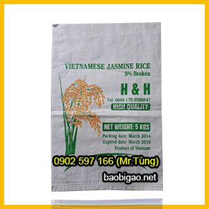 bao bì gạo 5kg giá rẻ