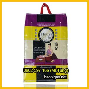bao gạo 10kg may quai xách